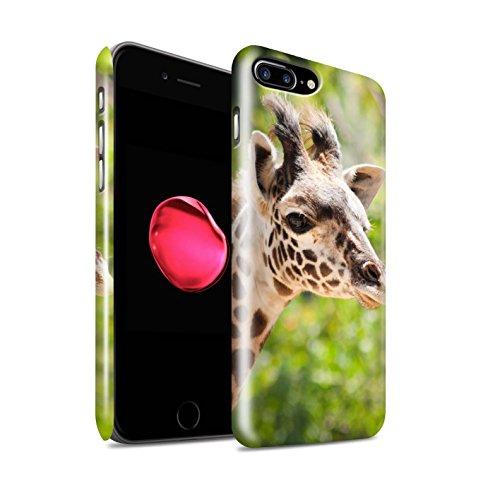 STUFF4 Glanz Snap-On Hülle / Case für Apple iPhone X/10 / Eidechse Muster / Wilde Tiere Kollektion Giraffe