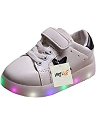 Highdas Cuero Niño Niña Prewalker Light Up Zapatos White EU 24