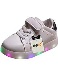Highdas Cuero Niño Niña Prewalker Light Up Zapatos White EU 24
