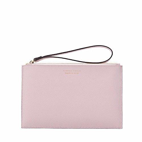 Die neue Tasche Handtasche mode Freizeit Tasche Umschläge Handtasche, Hellblau light pink