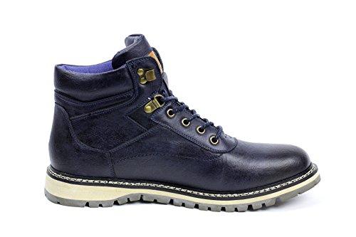 uomo biker alla moda con lacci, alla caviglia rétro Scarponcini chelsea casual Scarpe da lavoro Navy