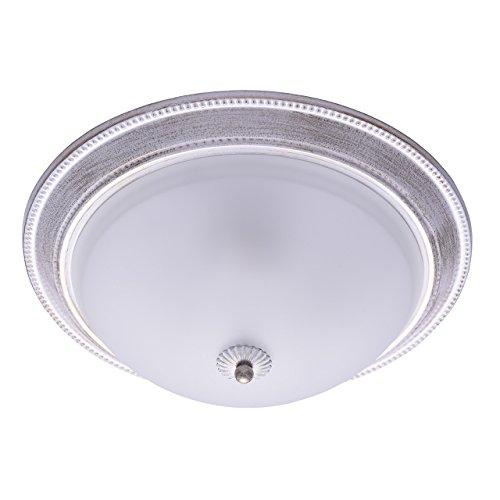 MW-Light 450013403 Shabby Chic Deckenleuchte in Weiß Rund 3 Flammig Metall Glas -