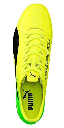 Puma Evospeed 17 Sl S Mx Sg, Chaussures de Football Homme SAFETY YELLOW-PUMA BLACK-GREEN