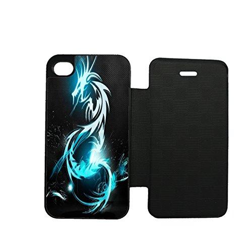 Aux prix canons Etui Folio iPhone 8–8S Dragon Tribal gráfica estilo Swag