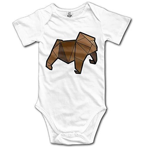 Unisex Baby Origami Gorilla Animal Funny Romper Babysuit Jumpsuit Onesie Bodysuit