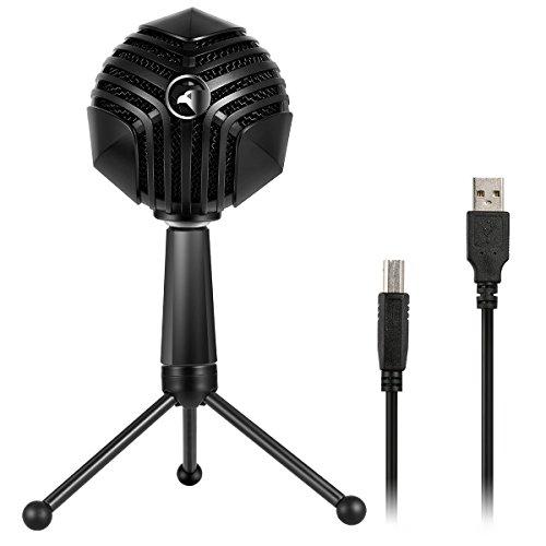Persevere Streamer ONE Gaming Kondensator Mikrofon mit USB Anschluss. Einstecken und los legen. Fuer Studioaufnamen