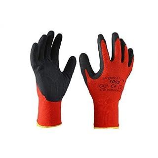 Urgent 1003-7 12 Paar Arbeitshandschuhe EN420 Kat I rot-schwarz 1003 (7)