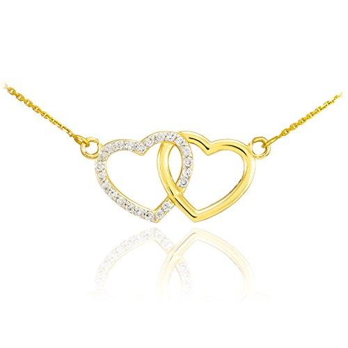 Kleine Schätze Doppel-Herz-Diamant-Halskette