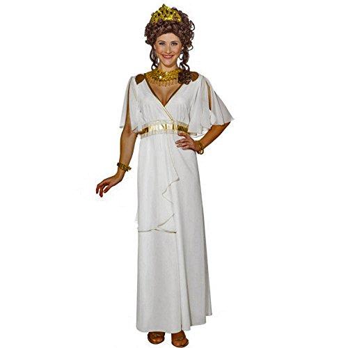 Göttin Gr. 36- 46 langes Kleid weiß Antike Römerin Fasching (40/42) (Weiße Griechische Göttin Kleid)