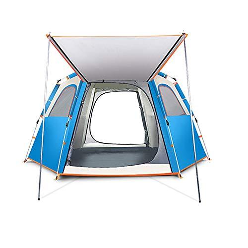 ZA Tragbares Wildzelt, automatisches Campingzelt mit Verdickung, wasserdichtes Zelt, Sofortzelt für Familienaktivitäten im Freien, UV-Schutz, in 2 Farben und 2 Größen erhältlich