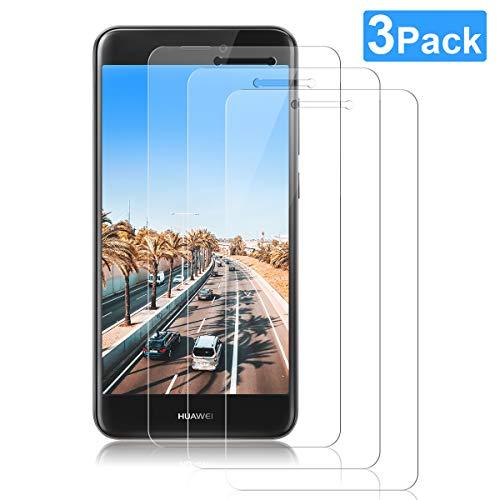 NONZERS Panzerglas Schutzfolie für Huawei P8 Lite 2017,[3 Stück] Bildschirmschutzfolie für P8 Lite 2017,Bubble-frei,Ultra Klar,Anti Kratzen