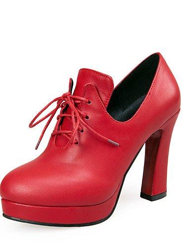 WSS 2016 Chaussures Femme-Extérieure / Bureau & Travail / Décontracté-Noir / Bleu / Rouge-Gros Talon-Talons / A Plateau-Talons-Similicuir blue-us5.5 / eu36 / uk3.5 / cn35