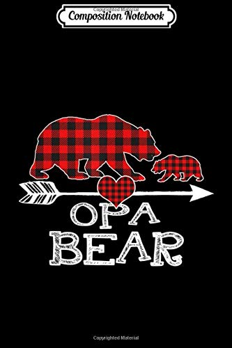 Composition Notebook: Red Plaid Opa Bear One Cub Matching Buffalo Pajama Xmas  Journal/Notebook Blank Lined Ruled 6x9 100 Pages