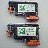 No-Name C9381A C9382A Druckkopf, wiederaufbereitet, kompatibel mit HP 88 HP88 Officejet Pro k550 k550dtn k550dtwm K5300 K5400 K5400tn K5400dn K5400dtn L7000 L7400