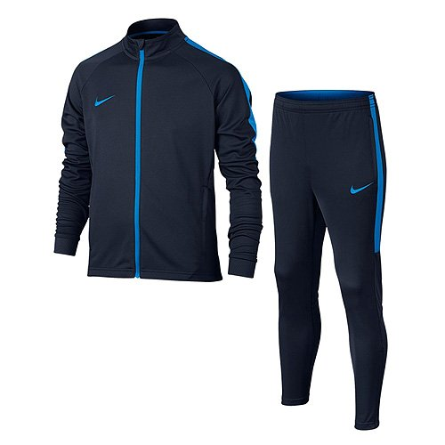 Nike NK Dry acdmy TRK Suit Sportanzug K, Unisex Kinder L Blau (Obsidian/Obsidian/Blue Hero/Blue Hero) (Obsidian Bekleidung Kinder)