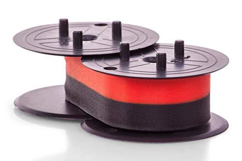 Inkadoo Farbbänder passend für Triumph-Adler 121 PD kompatibel zu Canon EP102, EP-102 4202A002 4202A002AA - Premium Nylonband Alternativ - Schwarz, Rot