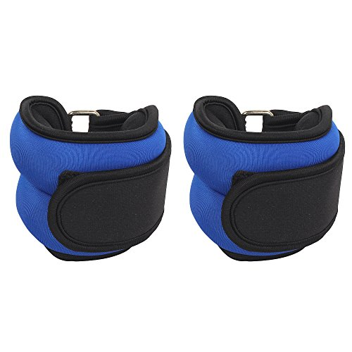 Fitkit FKAW10B Ankle Weight with Metal Sand, Adult