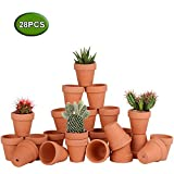 Awsuc Set di 28 Vasi da Fiori,vasi per Piante Vaso in Terracotta in Ceramica con Foro di drenaggio per Interni, Piante da Esterno, Artigianato, Matrimonio