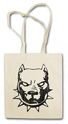 Urban Backwoods Pitbull Hipster Bag Beutel Stofftasche Einkaufstasche -