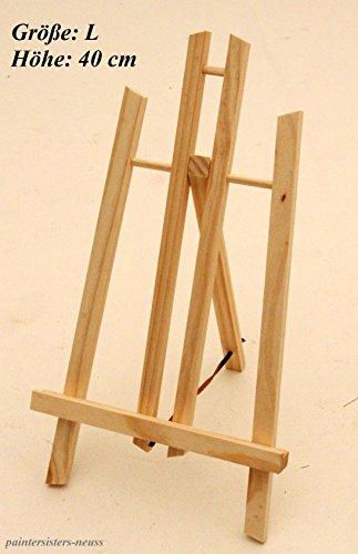 Tischstaffelei 40 cm hoch, Display-Staffelei, Deko-Ständer, Bildhalter, Sitzstaffelei