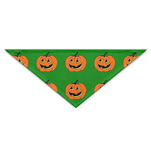 Wfispiy Art Halloween Pumpkin Lantern Dog Bandanas Scarves Triangle Bibs Scarfs Cool Basic Neckerchief Cat Collars