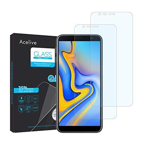 Fmway Samsung J6 Plus Panzerglas, 2 Stücke Hartglas 9H Anti-Bläschen Schutzfolie Bildschirmschutzfolie Folie für Samsung Galaxy J6 Plus J4 Plus