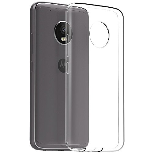 SDO™ Premium Soft Silicone Transparent Style Shockproof Jelly Back Case Cover For Moto G5 Plus (Clear Transparent)  available at amazon for Rs.99