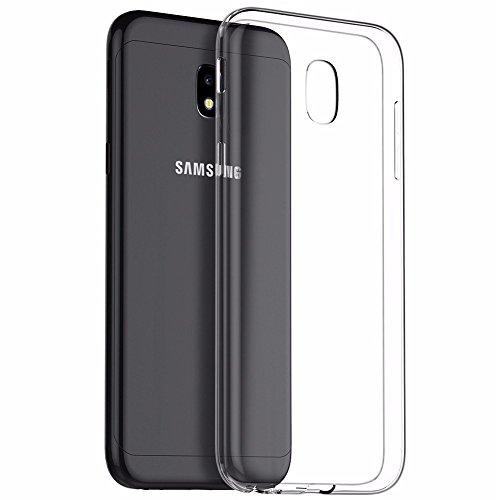 Camera Case Galaxy (Handyhülle für Samsung Galaxy J7 2017,FayTun Samsung Galaxy J7 2017 Hülle-Ultra Dünn Case-Anti-Fingerabdruck,Scratch,Staub-Premium FederLeicht Silikon Schutzhülle für Samsung Galaxy J7 2017, Transparent)