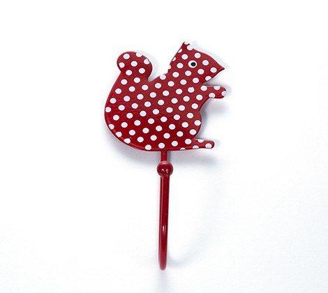 la fraise rouge Crochet Mural écureuil à Pois Rouges