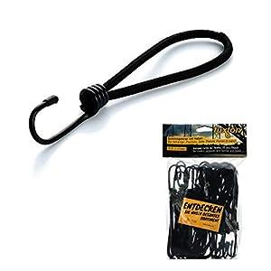 fuxton 25 Profi Spanngummi mit Haken (gummiert, schwarz 130 mm) für Planen, Netze, Banner. Expanderschlingen, Planenspanner, Gummispanner, Spannhaken