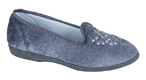 Sleepers, Pantofole donna Blu (blueberry)