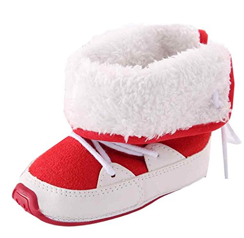 Covermason Baby Weiche Sohle Krippe Schuhe Kleinkind Stiefel Rot