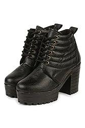 Do Bhai Stylish Boot 4945 For Women (Euro36, Black)