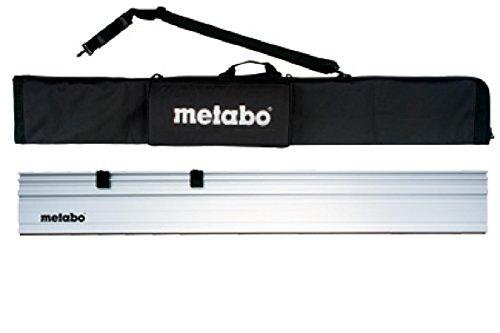 Preisvergleich Produktbild Metabo 631213700 Führungsschiene 1500 MM | eloxiertes Aluminium-Profil | Anti-Rutschbelag für sichere Auflage und zum Schutz der Werkstücke gegen Kratzer | geeignet für: Metabo Sägen | mit Tasche