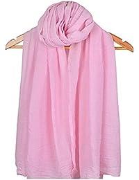 LAAT dame coton candy couleur écharpe châle écharpe femme écharpe coton couleur unie écharpe wrap écharpes de protection solaire