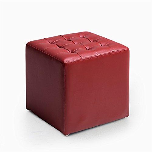 Lagerung Hocker PU Fußbank | Wohnzimmer Sofa Dressing Change Schuhe Hocker | Gepolsterter Fußhocker | Fußstütze Kleiner Stuhl/Sitz | Sitzkissen Sitzsack Fußstütze | Ottoman Stuhl Bank Bed End Hocker