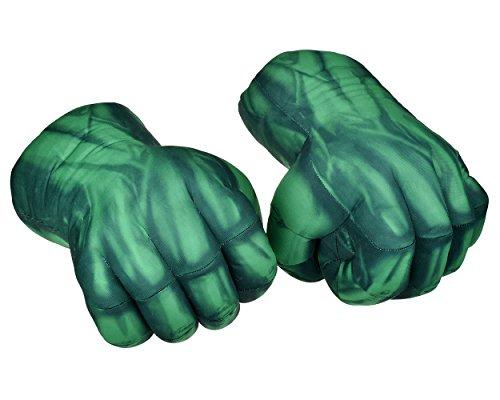 ds. distinctive style Guantes de Boxeo 1 par de Guantes de puño 1Guantes de Peluche Suave para los niños Guantes de Cosplay - Verde (24cm)