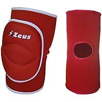 Zeus Ginocchiera Volley Rodillera Para El Voleibol (ROJO, SENIOR)