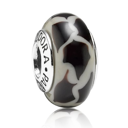 Pandora Damen-Charm 925 Sterling Silber Giraffe drucken Muranoglas 790942