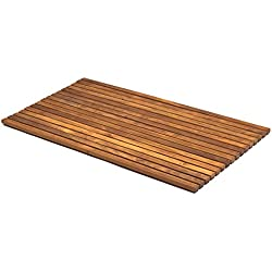 AsinoX TEK4H7120 - Tarima de ducha y baño flexible, madera de teca