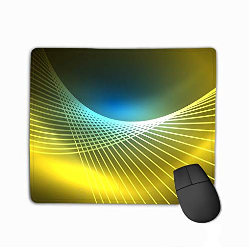 Mouse Pad neon Glowing Magic Background Banner Night Sky Wallpaper Light Effect Christmas Abstract Pattern Rectangle Rubber Mousepad 11.81 X 9.84 Inch