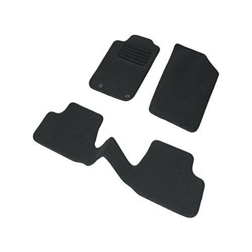 DBS 1763178 Tapis Auto - Sur Mesure - Tapis de sol pour Voiture - 3 Pièces - Antidérapant - Moquette noir 900g/m² - Finition Velours - Gamme Star