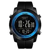 Kompass Herren Sportuhr Schrittzähler Kalorien Uhr Wasserdicht Digital Armbanduhr