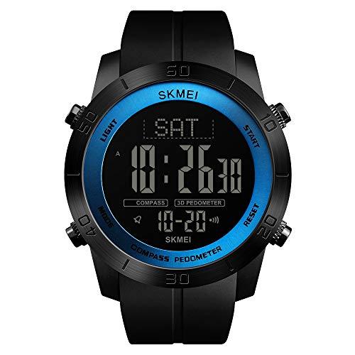 Compass Herren Sportuhr Schrittzähler Kalorien Uhr Wasserdicht Digital Armbanduhr