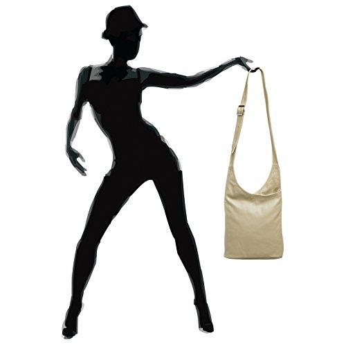CASPAR Fashion, Borsa a tracolla donna Beige