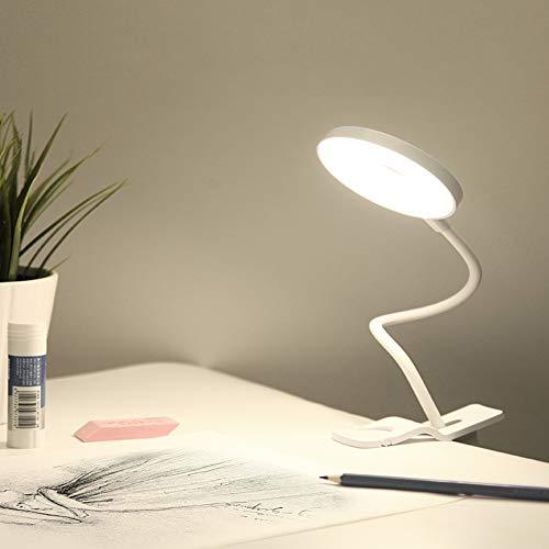 FGART Lámpara Escritorio,Flexo Pinza LED Lámpara De Lectura,3 En 1 USB Recargable...