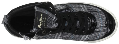 Pepe Jeans London Berlin, Sneaker Donna Nero (Schwarz (Black))
