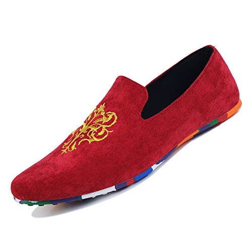 XiaoYouYu, Mocassins De Mode, homme Rouge