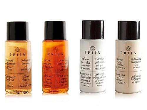 Paquet de bienvenue Prija Hotel Toiletries 400 unités shampooing,après-shampooing, gel douche, lotion pour le corps