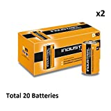 20 x D Duracell Industrial MN1300 LR20 Mono Alkaline Battery Radio Torch Procell
